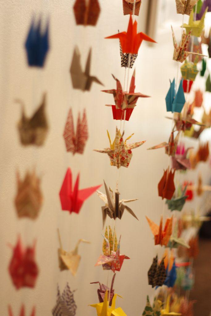 paper crane chains
