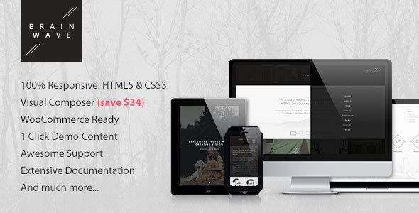ThemeForest - Brainwave — Multipurpose One/Multi Page Theme Free Download