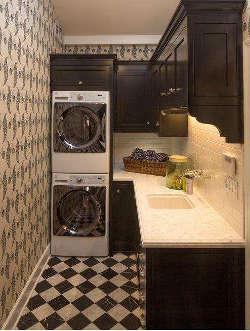L shaped laundry room