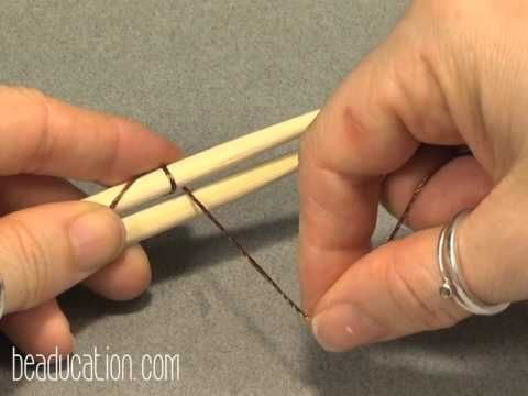 Video: Introduction to Wire Weaving Tutorial - Beaducation.com - Great way to practive the movement involved in the weaving.  #Wire #Jewelry #Tutorials