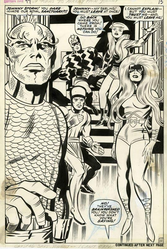 Fantastic Four #99, pg. 11, art by Jack Kirby, inks by Joe Sinnott