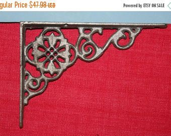 13% OFF 8, Shelf Brackets, FLOWER, cast iron shelf brackets, Gift, Shelf Bracket, brackets for shelves, vintage style, corbels,corbel B-11 by wepeddlemetal. Explore more products on http://wepeddlemetal.etsy.com