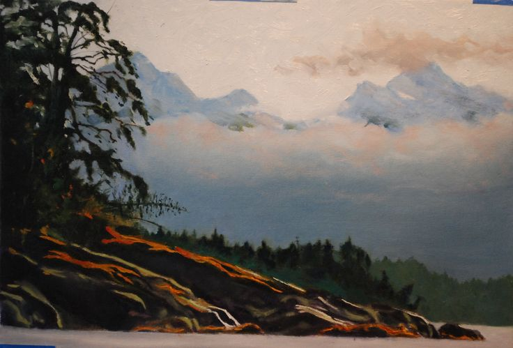 my painting of an Island at sooke