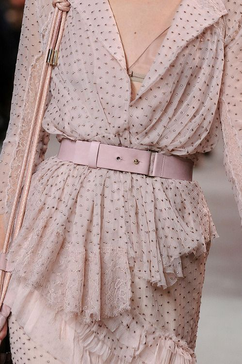 Nina Ricci....but put a cowhide belt with crystals and studs on it!!!!   A pink one!