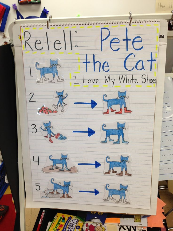 Pete the Cat - I Love My White Shoes - story retelling and sequencing activity