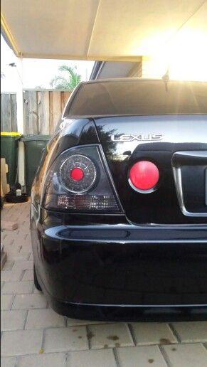 black rearlights close up