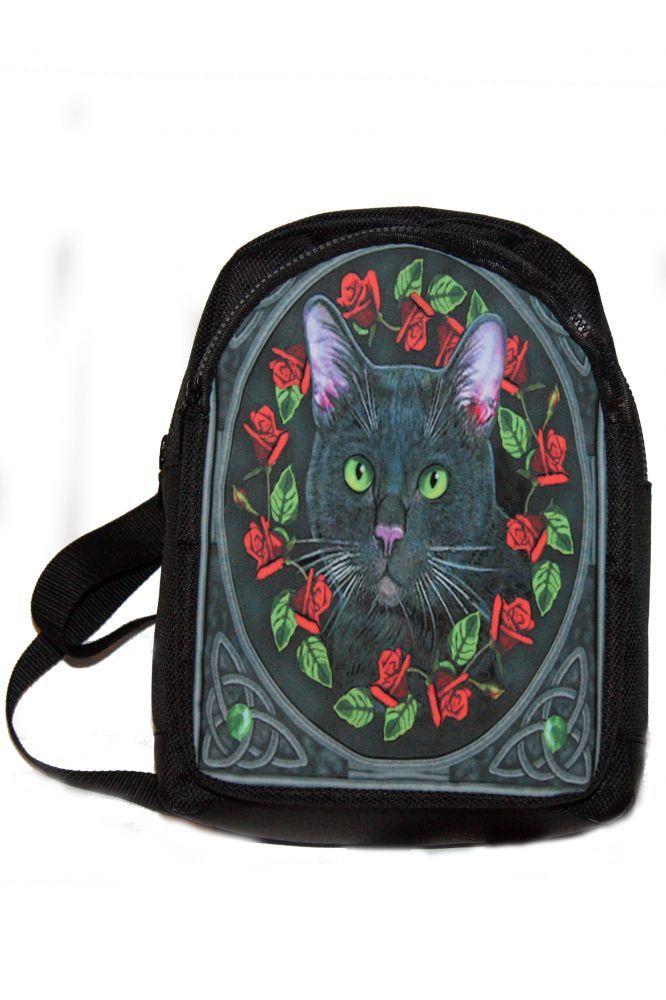 Hátitáska, hátizsák, fekete macska