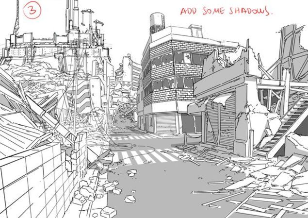 Tips For Drawing Backgrounds Thomas Romain Background Drawing Art Background
