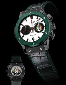 #relojes de #lujo #Hublot Classic Fusion Federación Mexicana de Fútbol con cerámica verde