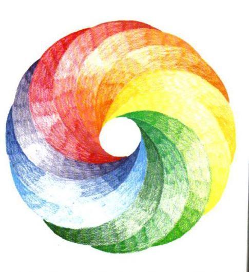 Waldorf ~ 6th Grade ~ Geometric Drawing ~ 12 Intersecting Circles ~ main lesson book