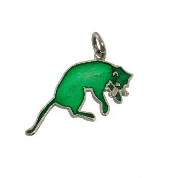 ZIELONY KOT green cat pendant