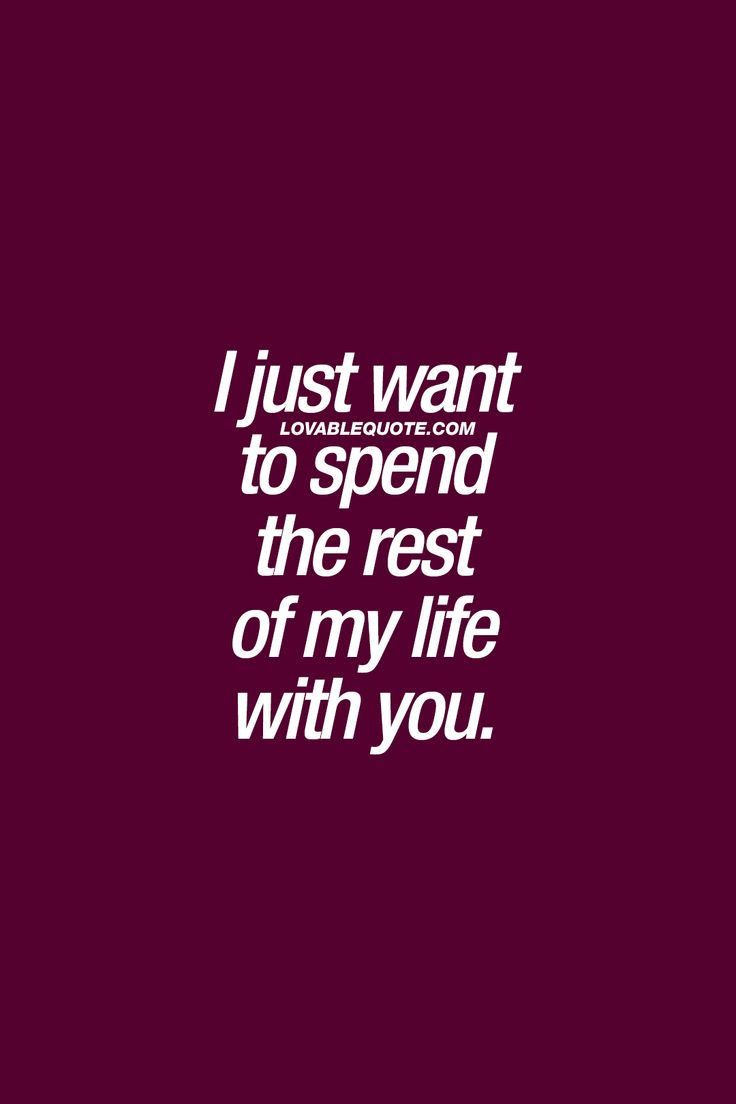 I just want to spend the rest of my life with you. ❤ Only you J.M