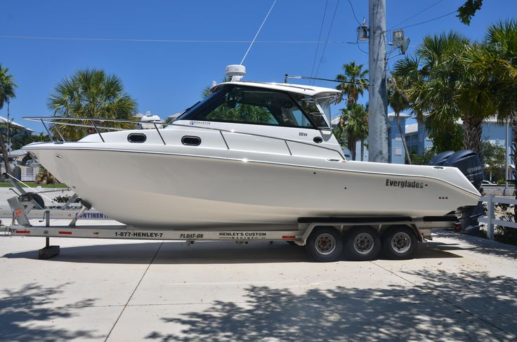 2009 Everglades 320 Express with 2015 Yamahas Power Boat For Sale -