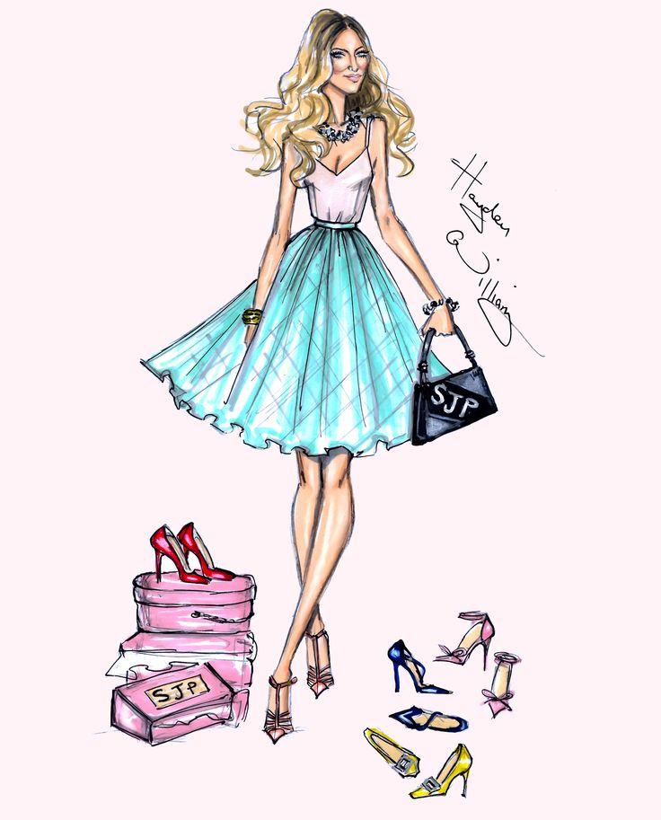 Hayden Williams Fashion Illustrations | SJP by Hayden Williams