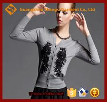 women cubic flower decorated tight cashmere cardigan sweater    Best Seller follow this link http://shopingayo.space