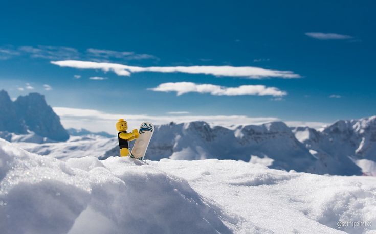 Jack from San Pellegrino! www.giamp.info #lego #legoondolomites #dolomites #dolomiti #snowboard #snow #rider #falcade #sanpellegrino #cimauomo #moena #colmargherita #sunny #blue #sky #ski #dolomitisuperski #dolomitistars #instagood #instasnow #instalego
