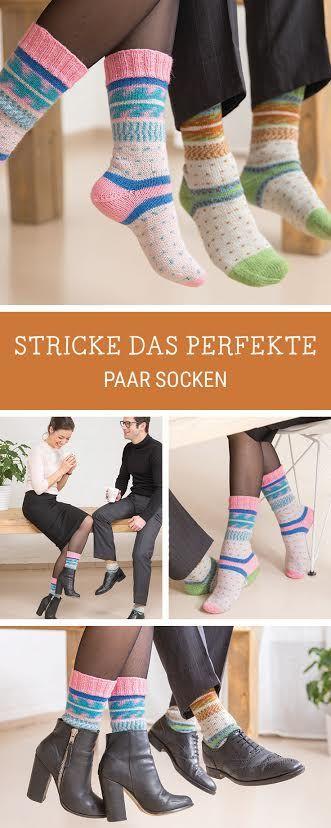 DIY-Anleitung: Wir zeigen Dir zusammen mit Schachenmayr Regia, wie Du identische Socken strickst / knitting tutorial for couple socks via DaWanda.com