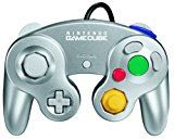 #ad  Gamecube Controller Platinum  The Platinum GameCube Controller delivers classic GameCube design and better control of the action, for all your favorite GameCube games. Extra Controllers allow for multiplayer game plaay. Up to four (4) controllers may be plugged into your Nintendo GameCube control deck at any time.    Wii Compatibility with GameCube Games:   Up to four (4) of these same controllers can be plugged directly into the Wii console when enjoying Nintendo GameCube game..