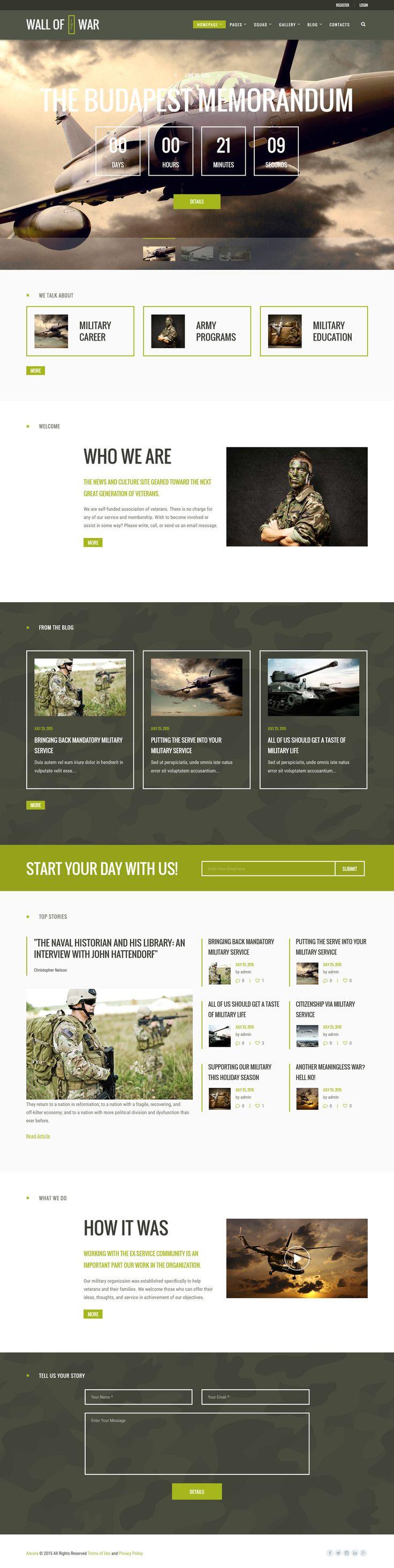 Military | Veterans & Military Service Theme #webdesign #website Download: http://themeforest.net/item/military-veterans-military-service-theme/12370769?ref=ksioks
