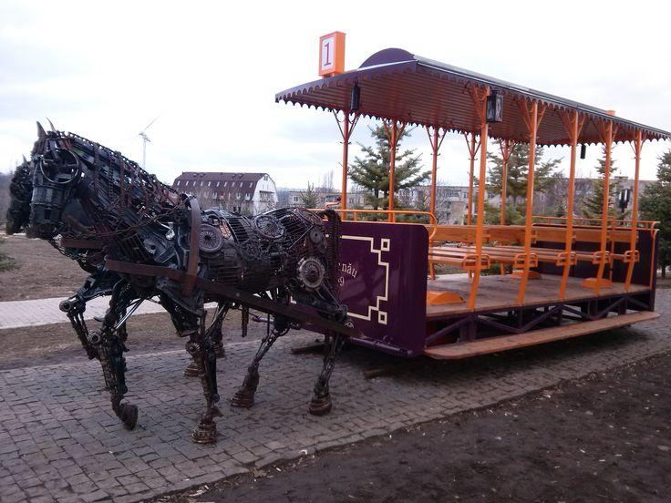 vintage, mecanic horses, Moldova -Chisinau