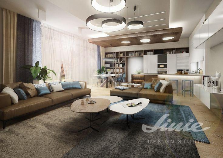 Fotorealistická vizualizace, interiér, obývací pokoj
