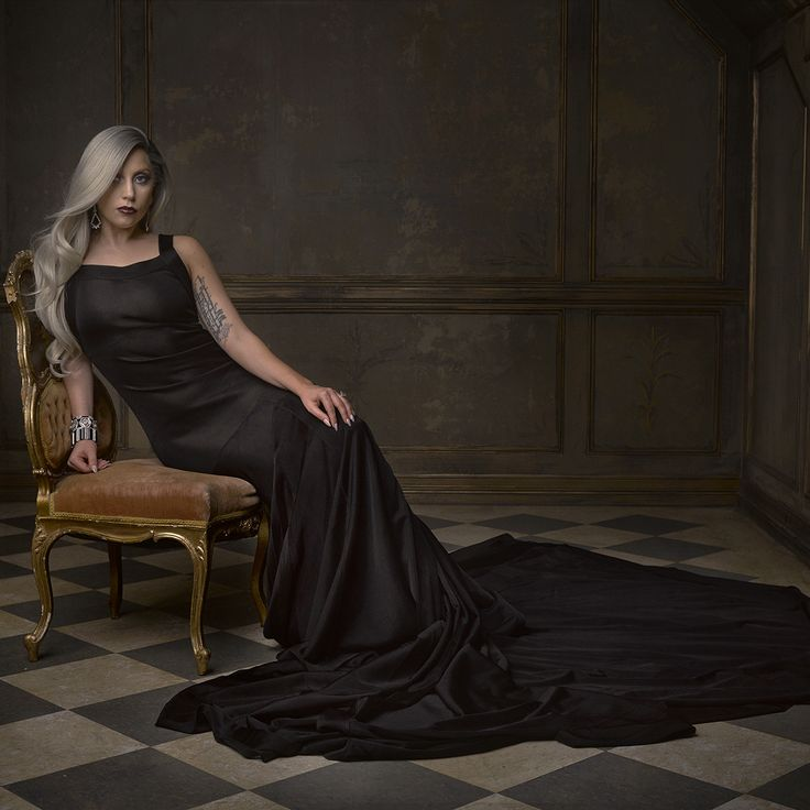 Lady Gaga at Mark Seliger's portrait studio, Vanity Fair's 2015 Oscar Party