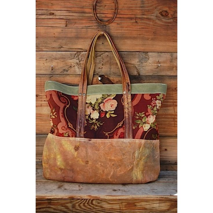 Vintage Fabric Canvas Tote Extra Large