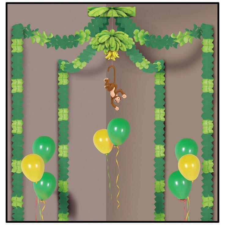 Jungle Monkey Party Canopy from BirthdayExpress.com