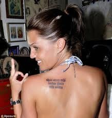Placement for shoulder blade quote tattoo