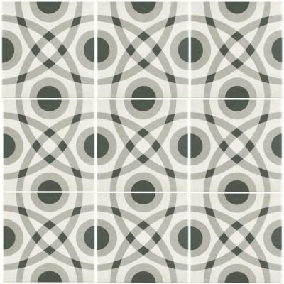 Merola Tile Twenties Circle 7-3/4 in. x 7-3/4 in. Ceramic Floor and Wall Tile-FRC8TWCR - The Home Depot