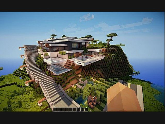 Beautiful minecraft construction de maison de luxe contemporary