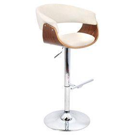 MId-century modern Vintage Adjustable Height Swivel Bar Stool with Cushion