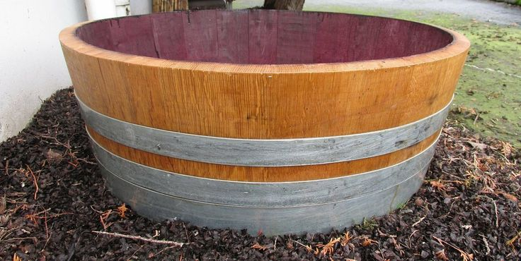These used wine barrels are transformed into wonderful planters for your planting needs. General rules in selecting the right size container for your plants are that the container should be about twice the size of the root ball of the plants. Shallow barrel planters are suitable for shallow rooted plants like color annuals and most herbs. Premier oak wood will last many years in your garden.