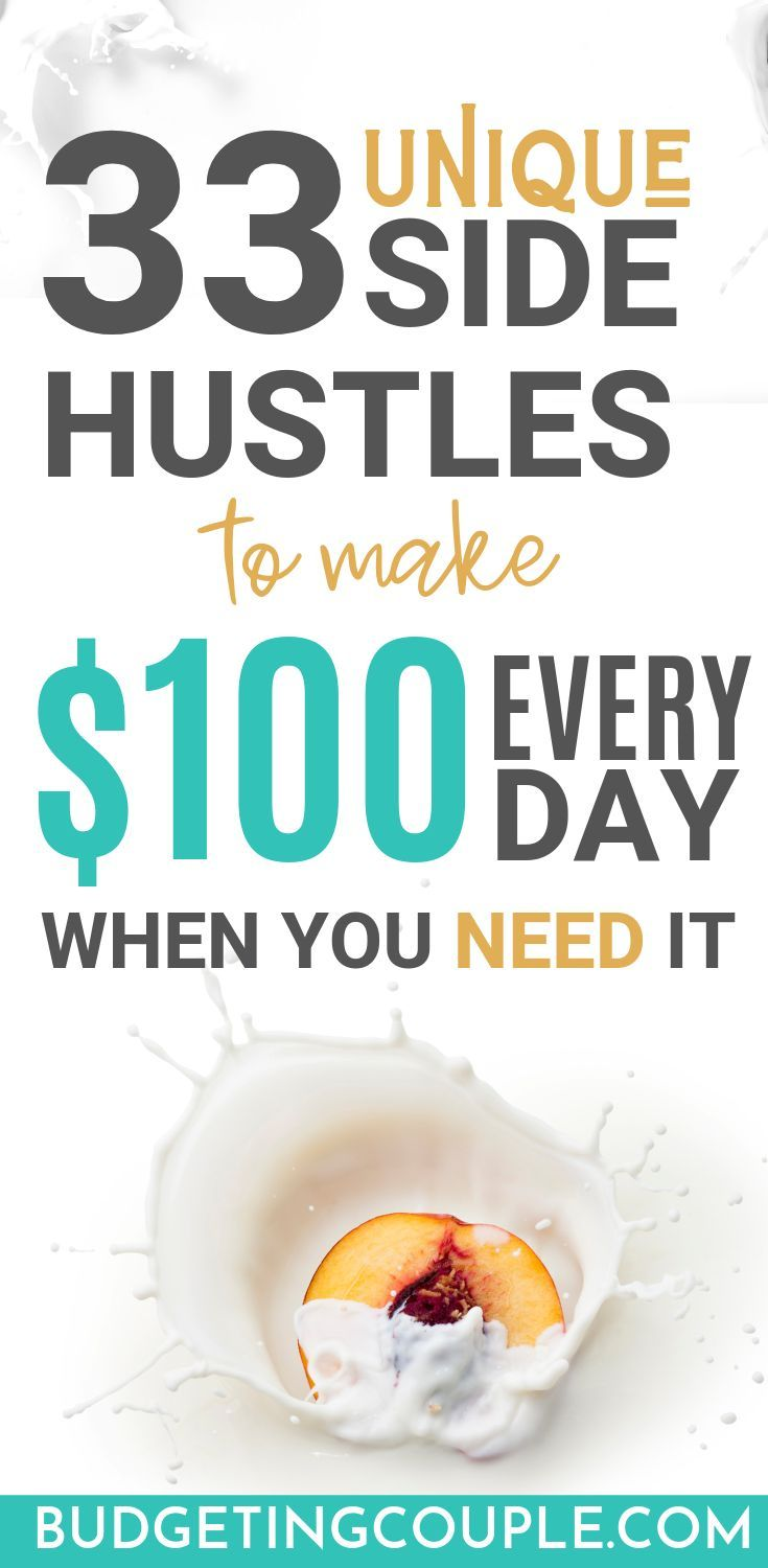 How To Make $100 (or more) A Day: 33 Unique Ways – Budgeting Couple | Saving Money, Budgeting Tips, Personal Finance