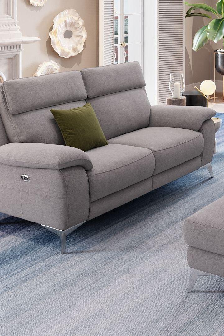 Funktionscouch Aus Grauem Stoff Modernes Design Exklusive Funktionen In 2020 2 Sitzer Sofa Sofa Design Sofa