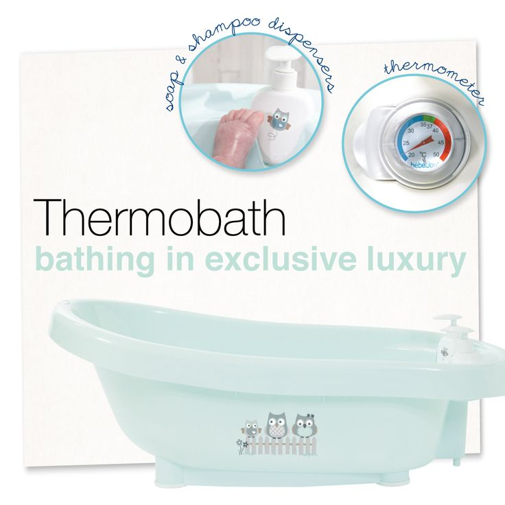 bébé-jou thermobath, bathing in exclusive luxury! Owl family collection.