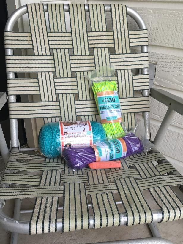 How To Macrame A Vintage Lawn Chair Macrame Back To And