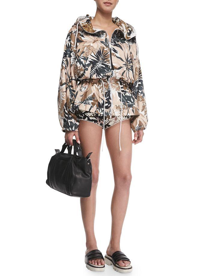 Knit Camo-Print Micro Shorts