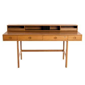 Danish Modern Oak Desk by Designer Jens Quistgaard.