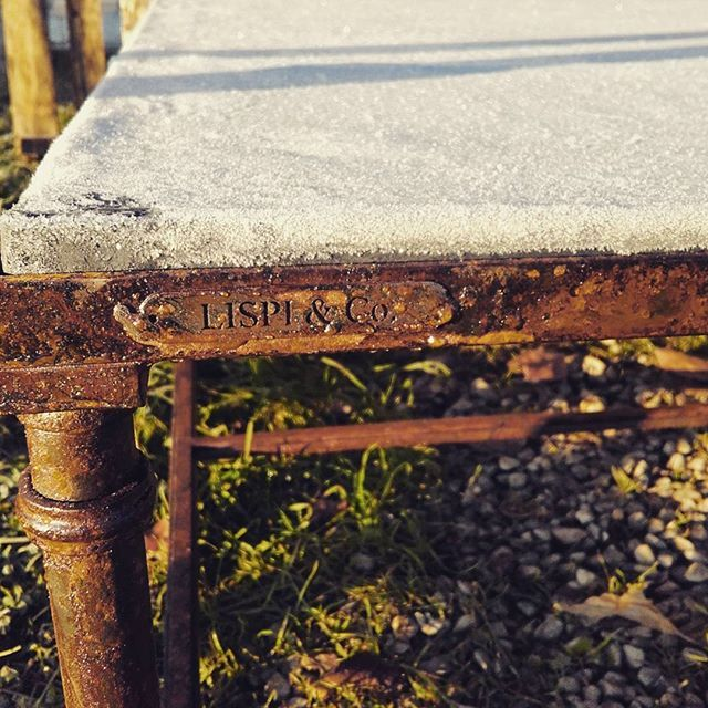 FROST -Nighttime frost on the lead table...brrrrr so cold!! Winter is coming! -Gelata notturna su piano in piombo! Brrr che freddo! L'inverno sta arrivando!  #winteriscoming #mastersofiron #madeinitaly #handmade #umbria #tuscany #italy #loveitaly #handforged #table #tablet #ironartist #ironcrafted #lead #blacksmith