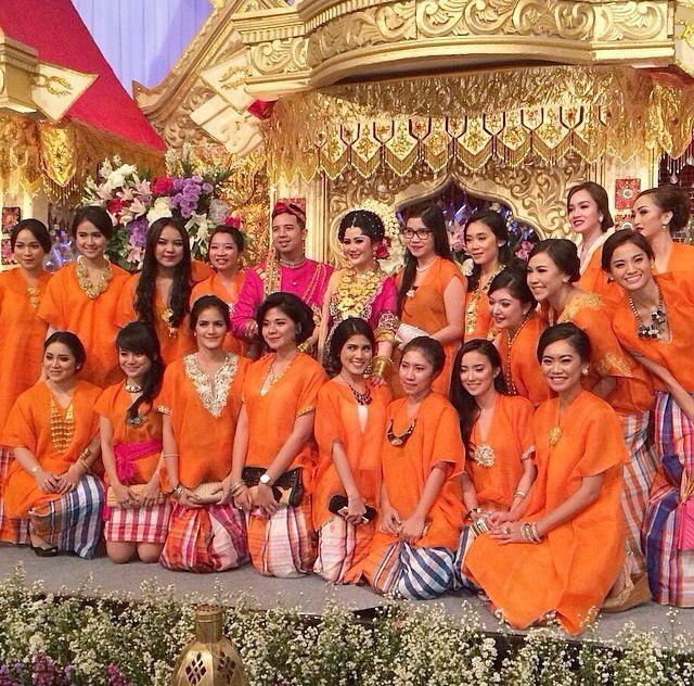 Orange bridesmates
