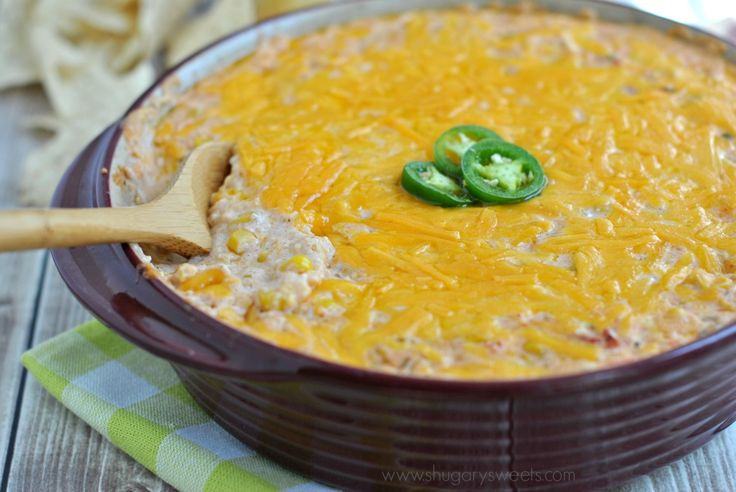 Cheesy, spicy, Hot Jalapeno Corn Dip is the perfect appetizer for your game day snack list! Pair it with some tortilla chips and you won't be able to stop.