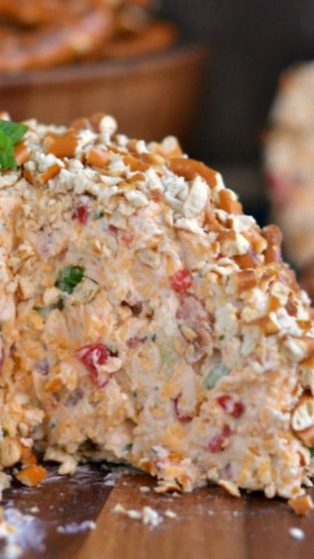 Bacon Ranch Beer Cheeseball ~ It will blow any other appetizer you've ever had out of the water... It's just that good.