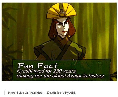 Death once had a near Kyoshi experience.<----HAHAHAHAHA!!! This caption.....priceless. XD more funny pics on facebook: https://www.facebook.com/yourfunnypics101<<<Kyoshi is the Avatar version of McGonagal i swear