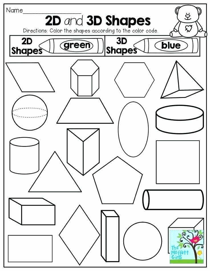2d Shapes Worksheets Kindergarten Kindergarten 3 ...