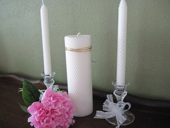 Beeswax Unity Candle Set By Mcandles On Etsy