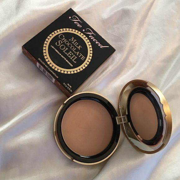 Too Faced Milk Chocolate Soleil Bronzer New with box! Only swatched once! Full size. Price firm. Too Faced Makeup Bronzer