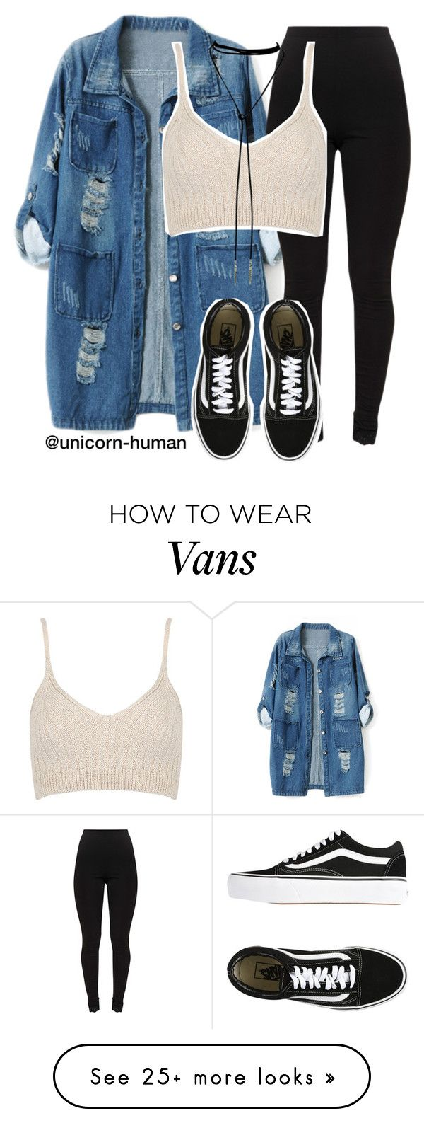"""Untitled #2998"" by unicorn-human on Polyvore featuring Chicnova Fashion, WithChic and Vans"