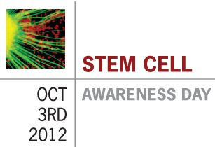 CIRM Stem Cell Research Updates: Spreading the word on Stem Cell Awareness Day---  The California's Stem Cell Agency created a hashtag to promote Stem Cell Awareness Day for the fifth annual Stem Cell Awareness Day on October 3rd, 2012.