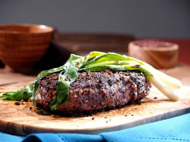 Sichuan Peppercorn Steak with Grilled Green Onions : Recipes : Cooking ...